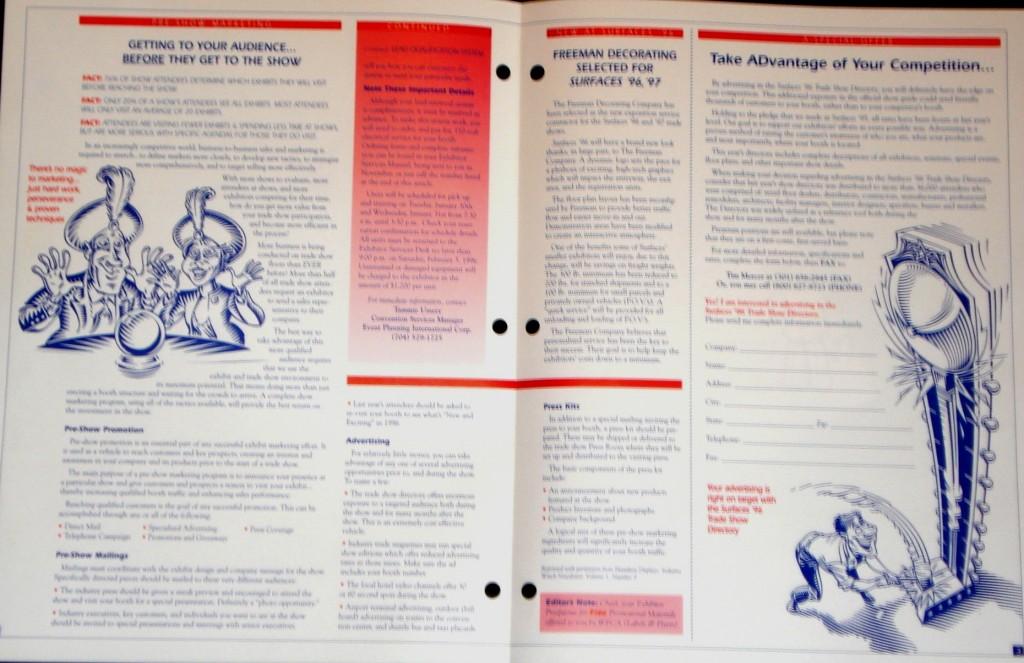 Exhibitor Print Brochure